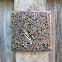 Tree of Life Sculpture, Tree of Life Art, Garden Art, Outdoor Wall Art, Tree Sculpture