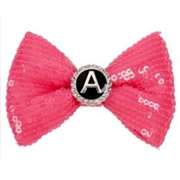Initial Sequin Hair Bow Snap | Girls Hats & Hair Accessories | Shop Justice