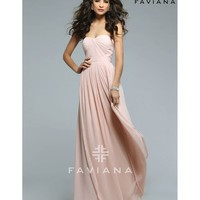 Preorder - Faviana 7822 Cameo Pink Sexy Strapless Long Dress 2016 Prom Dresses