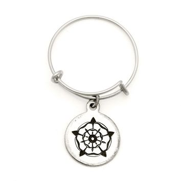 Alex and Ani Rose of the Blessed Mother Spiritual Imprint Expandable Wire Ring - Argentium Silver