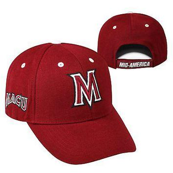 Licensed Mid-America Christian Evangels NCAA Adjustable Triple Threat Hat Cap KO_19_1