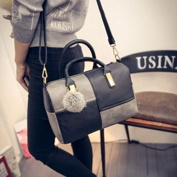 Winter Casual Korean Shoulder Bags Stylish Patchwork Tote Bag Pillows [6582344967]