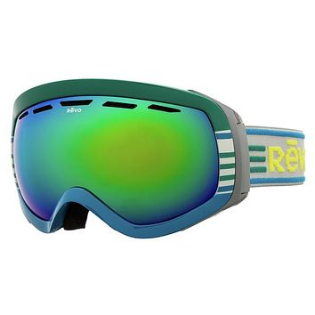 Revo - Moog Blue / Green Goggles, Green Water Polarized Photochromatic Lenses
