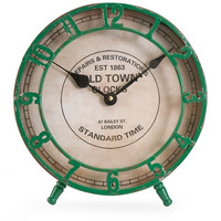 Old Town Green Table Clock