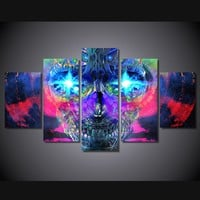 Psychedelic Skull Artistic Modern