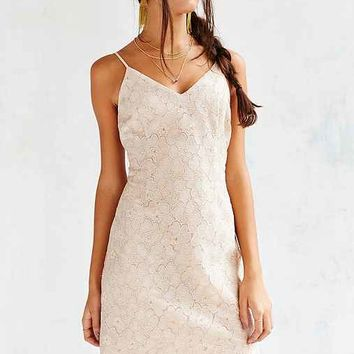 Cooperative Metallic Daisy Lace Party Dress