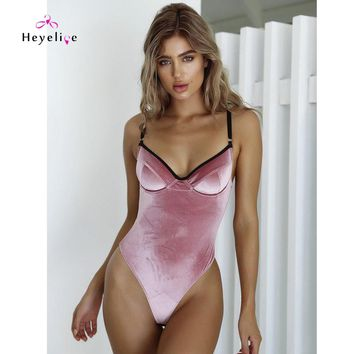 Retro Velvet Swimsuits Women One Piece Swimwear Push Up Sexy Swimsuits Trikini High Cut Monokinis Sexy Thong Swimsuits Bodysuits