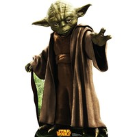 Star Wars Yoda Retouched Cardboard Cutout by Advanced Graphics