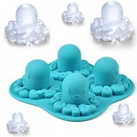 Octopus Mold Silicone Mold Cooking Tools Cookie Cutter Ice Molds Ice Trays Kitchen Fondant Accessories Tools