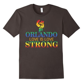 Men's Strong Orlando, Love is Love, Pray for Orlando T-Shirt 2XL Asphalt
