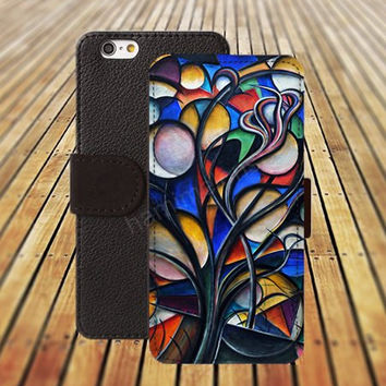 iphone 5 5s case colorful watercolor Leaf iphone 4/4s iPhone 6 6 Plus iphone 5C Wallet Case,iPhone 5 Case,Cover,Cases colorful pattern L414