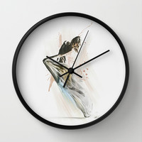 Drift Contemporary Dance Wall Clock by Galen Valle