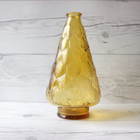 Vintage Yellow Leaf Bud Vase | Wheaton Glass Co. | Made in the USA