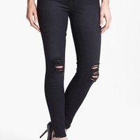 Lucky Brand 'Sofia' Destroyed Ankle Zip Skinny Jeans (Possum Trot) | Nordstrom