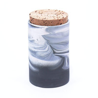 Modern Two Tone Marbled Lidded Jar