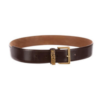 Patent Leather Logo Belt