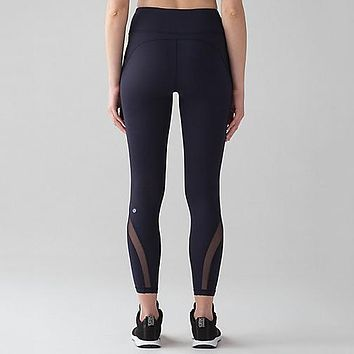 Lululemon Print Fashion Yoga Sport Stretch Pants Trousers