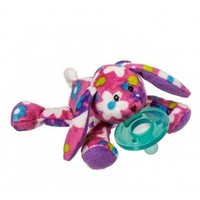 WubbaNub WubbaNub Infant Pacifier - Pink Floral Bunny - Pacifiers/Teethers 13480 : lilylimes