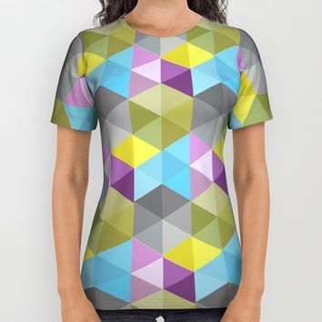 Tangrams Pattern All Over Print Shirt by Cveti