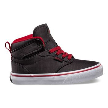 Vans Kids Atwood Hi (Textile/black/chili pepper/white)