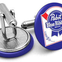 Pabst Blue Ribbon Cufflinks