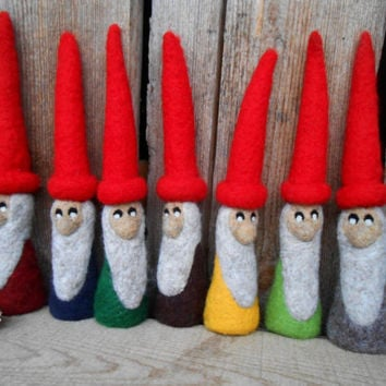 Needle Felted Garden Gnome Miniature Gnome Figure Felt Gnomes Scandinavian Decor Lawn Gnome Big Doll Home Decor Gnomes For Sale