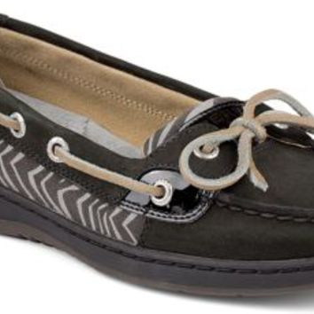 Sperry Top-Sider Angelfish Slip-On Boat Shoe Black/Zebra, Size 5.5M  Women's Shoes
