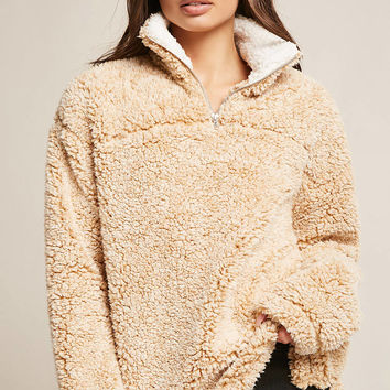 Faux Shearling Pullover Sweater