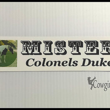 1 CUSTOM ( 2 Inch x 8 Inch ) COLOR PHOTO and Black Text White Aluminum Sign for Stall, Barn, Kennel, Crate, Door, Horse Trailer and Home