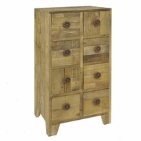 13737 Elegant Wood Chest With Drawers - Benzara