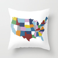 USA #2 Throw Pillow by Project M | Society6