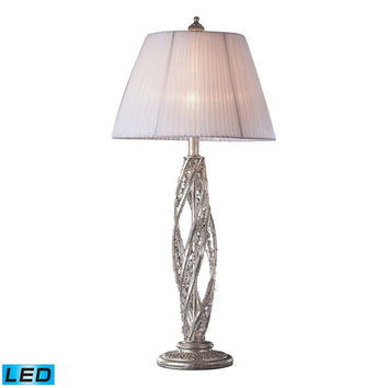 Dimond 6231/1-LED Renaissance Sunset Silver One Light LED Table Lamp