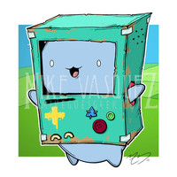 CatBMO (Bravest Warriors & Adventure Time Cross Over) 11x14 Print