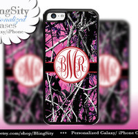 Camo Red Monogram iPhone 5C 6 Plus Case iPhone 5s 4 case Ipod muddy Realtree Personalized Cover Country Inspired Girl