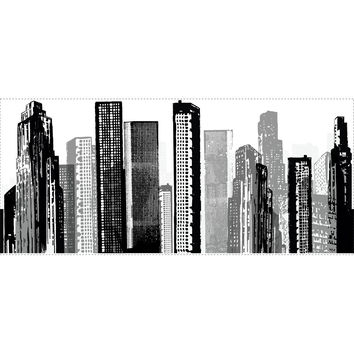 Roommates Decor Sticker Cityscape Giant Wall Decal