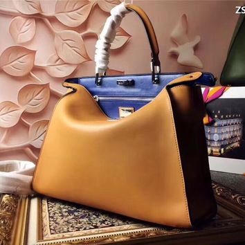 FENDI WOMEN'S 2018 NEW STYLE LEATHER PEEKABOO HANDBAG SHOULDER BAG