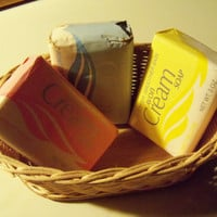 Vintage Avon Creme Soaps 3oz Pretty Pink, Powder Blue and Yellow For Softer Smoother Skin