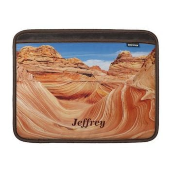 "MacBook Air Sleeve ""The Wave"" Landscape Photo USA"