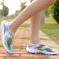 Rainbow Graffiti Women Running Shoes & Athletic Shoes  Walking Ourdoor Sport Sneakers
