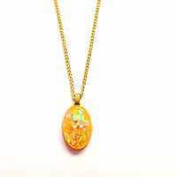 Yellow and Gold Pendant Necklace from Artystik Ego