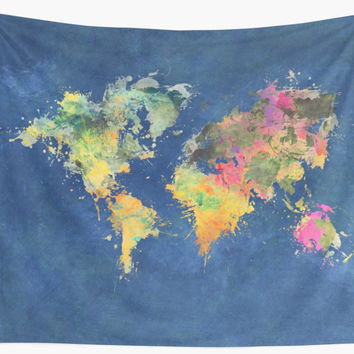 'world map 93 #worldmap #map #world' Wall Tapestry by JBJart