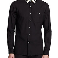Contrast Cotton Sportshirt - Zoom - Saks Fifth Avenue Mobile