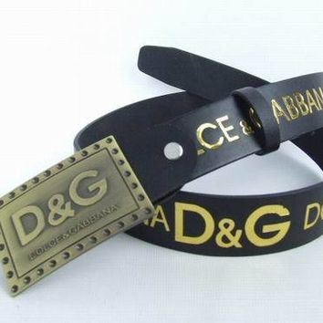 Cheap D&G Dolce & Gabbana Genuine Leather belts woman's and men's Business Waistband Belt Luxury Casual fashion Belt sale-843368