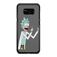 Rick And Morty-- Rick Finger Grey Samsung Galaxy S8 Case