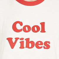 Cool Vibes Graphic Ringer Tee | Forever 21 - 2000205042