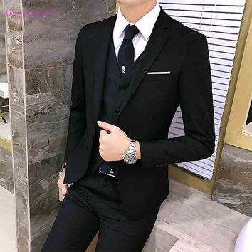 S108 costume mariage homme Fashion Men Suit Attractive Party Prom Tuxedo Mens Casual Daily Work Wear Suits Business men's suit
