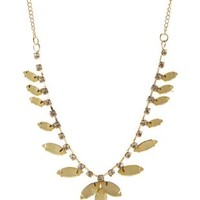 Yellow Dainty Faceted Stone Necklace by Charlotte Russe