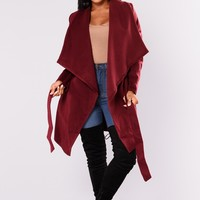 Manhattan City Coat - Burgundy