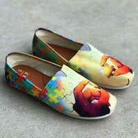 Artistic Autism Awareness Casual Shoes