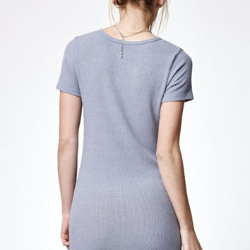 John Galt Ribbed Short Sleeve T-Shirt Dress at PacSun.com
